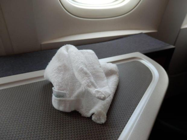 HOT TOWEL BEFORE TAKEOFF