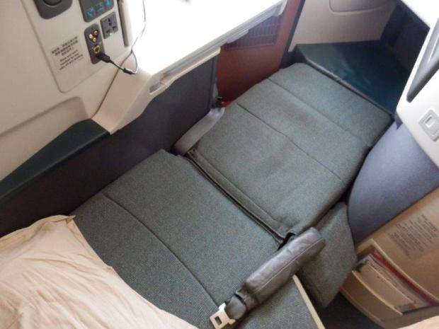 SEAT IN FLAT BED POSITION