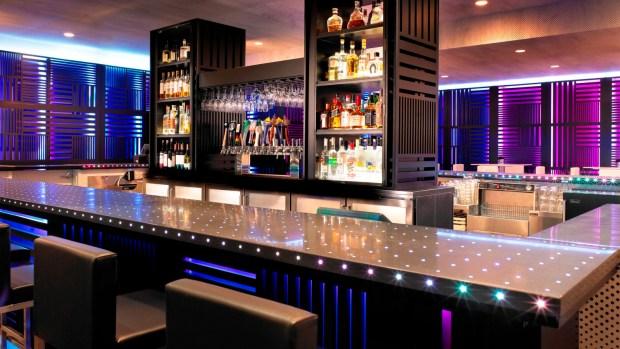 BAR IN HOTEL LOBBY