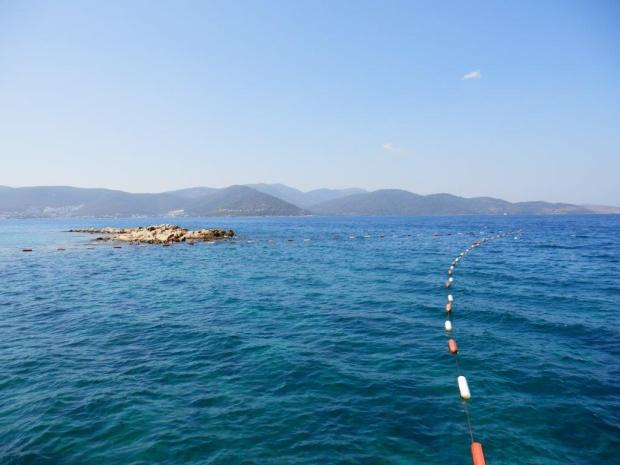 VIEW FROM BEACH TOWARDS BODRUM PENINSULA