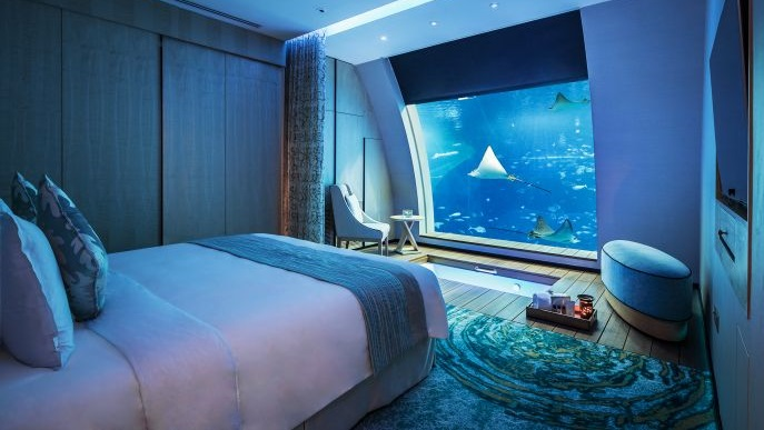 Underwater hotel Bedroom 7 All Thats Interesting Top10 Best Underwater Hotels In The World The Luxury Travel Expert