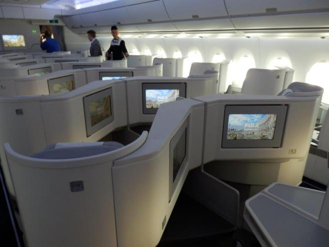 THE LARGER BUSINESS CLASS CABIN
