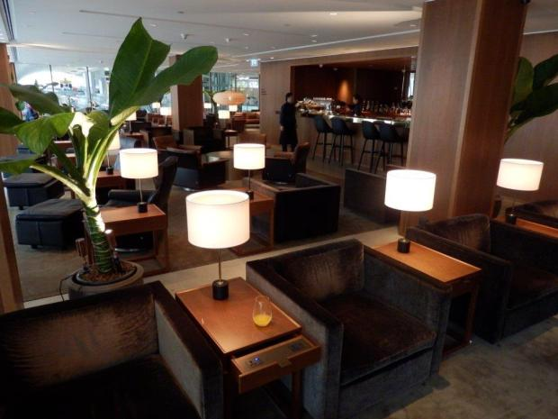 CATHAY PACIFIC LOUNGE AT BANGKOK AIRPORT