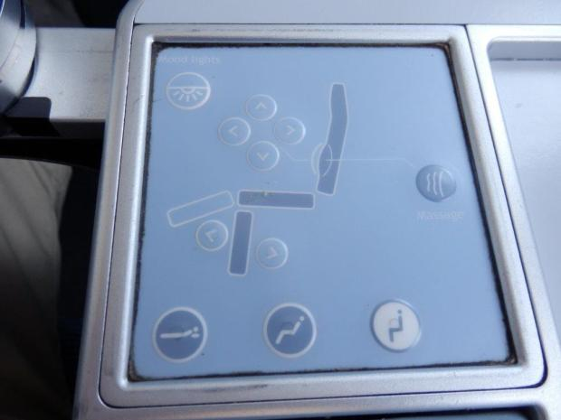 BUSINESS CLASS SEAT 5L: SEAT CONTROL (INCLUDING MASSAGE FUNCTION)