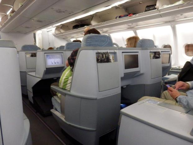 BUSINESS CLASS SEAT A6: VIEW FROM SEAT