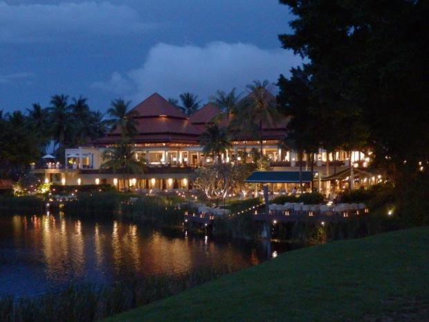 RESORT GROUNDS AT DUSK