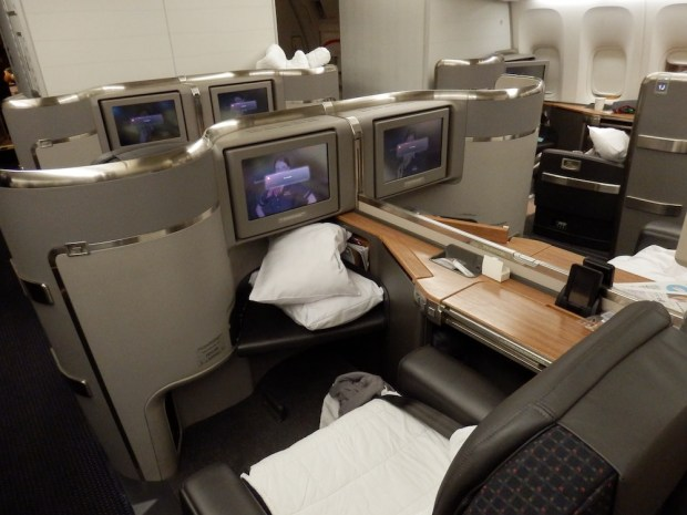 FIRST CLASS CABIN (PHOTO TAKEN AFTER LANDING)