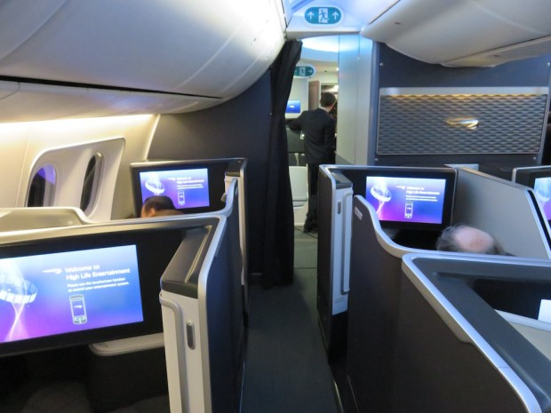 FIRST CLASS CABIN AT NIGHT