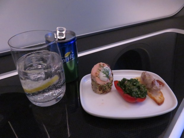 CANAPÉS OFFERED ON FLIGHT FROM ABU DHABI TO MUSCAT