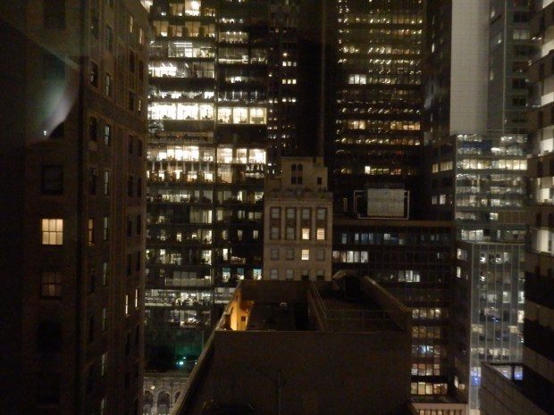 LOFT SUITE AT NIGHT: VIEW