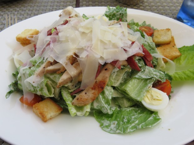 POOL-SIDE SNACK: CAESAR SALAD