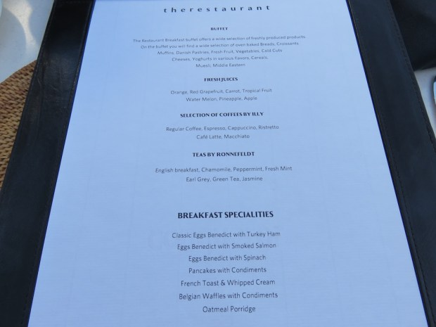 BREAKFAST BUFFET: MENU