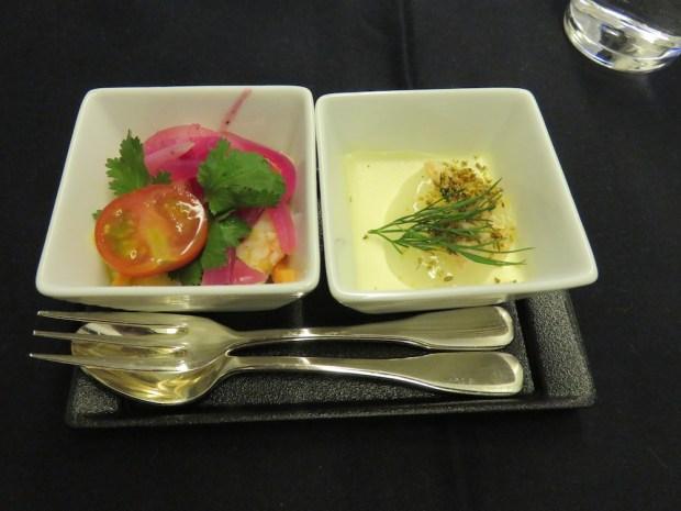AMUSE BOUCHE: SEAFOOD CEVICHE & FENNEL PANNA COTTA