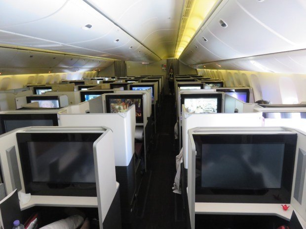 BUSINESS CLASS CABIN (BEFORE ARRIVAL)