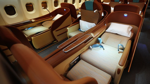 FLY EUROPE TO ASIA FOR 1098 EUROS IN THIS BUSINESS CLASS CABIN