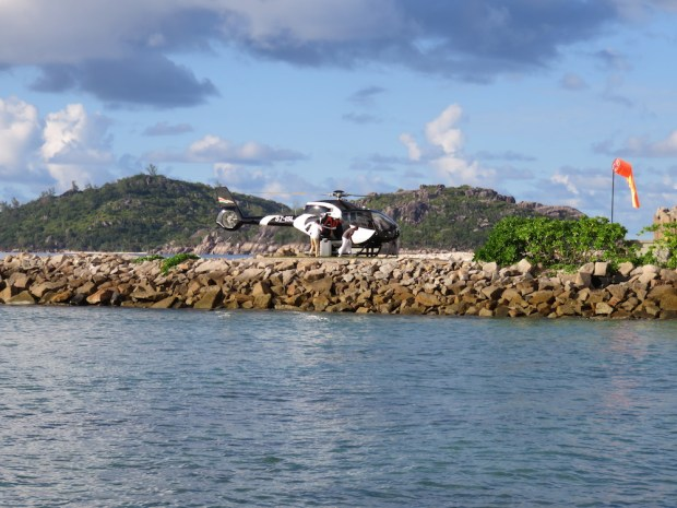 HELICOPTER TRANSFER TO THE RESORT