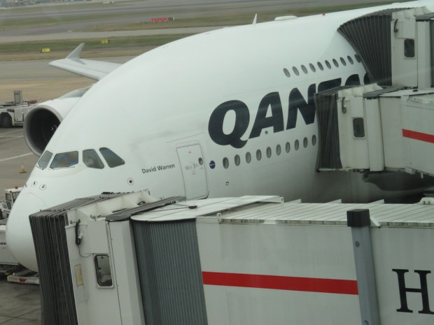 QANTAS A380 (UPON ARRIVAL AT LONDON)
