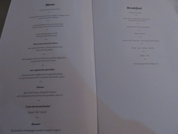 MENU & WINE LIST