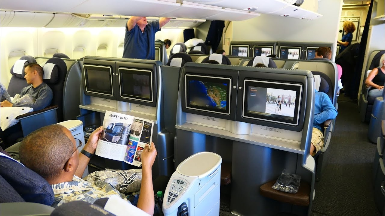 United Airlines B777 Domestic First Class San Francisco To
