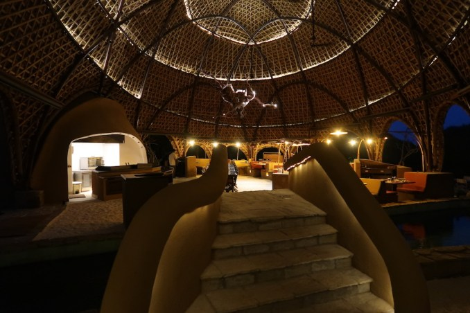 WILD COAST TENTED LODGE AT NIGHT