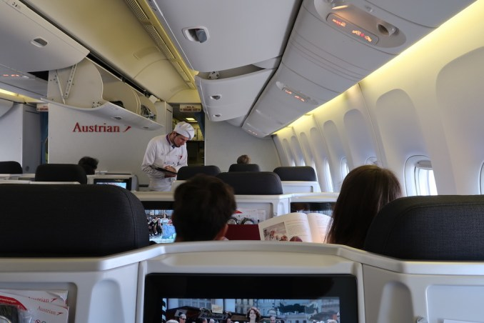 AUSTRIAN AIRLINES ONBOARD CHEF