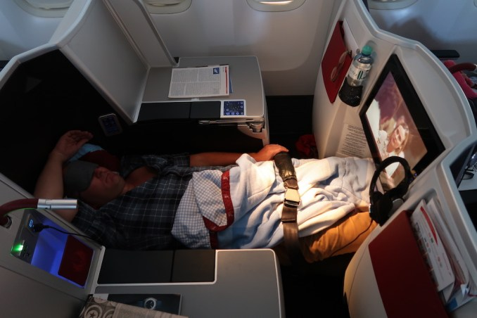 AUSTRIAN AIRLINES B777 BUSINESS CLASS SEAT: FLATBED
