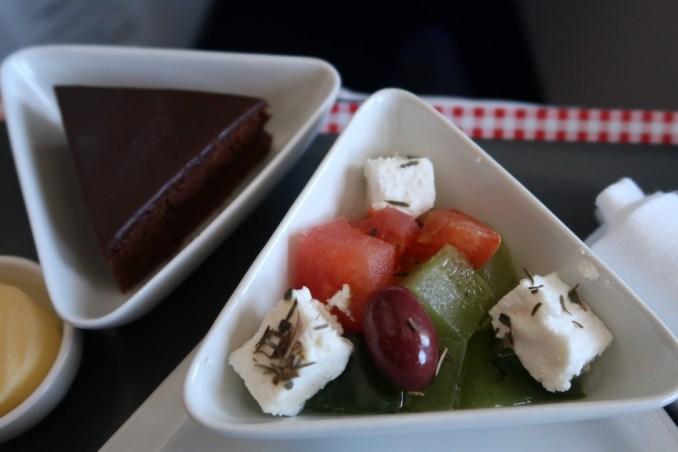 AUSTRIAN AIRLINES B777 BUSINESS CLASS: PRE-ARRIVAL MEAL