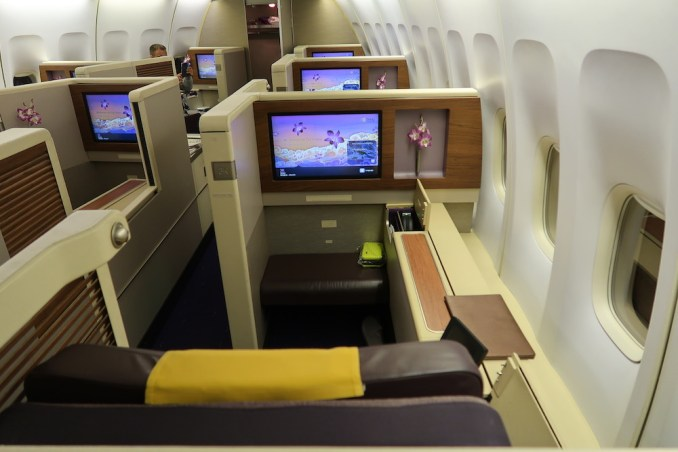 THAI AIRWAYS B747 FIRST CLASS CABIN