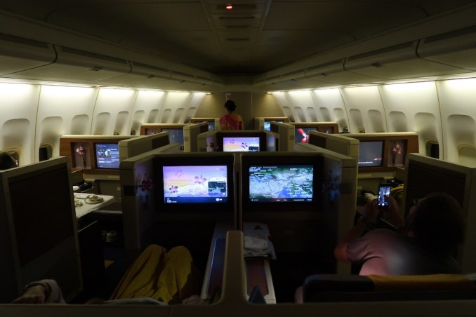 THAI AIRWAYS B747 FIRST CLASS CABIN (IN FLIGHT)
