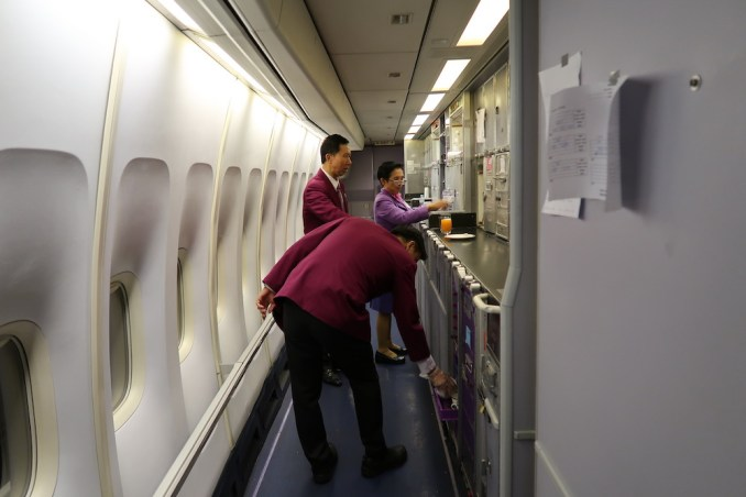 THAI AIRWAYS B747 FIRST & BUSINESS CLASS GALLEY