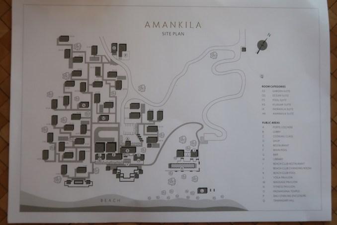 AMANKILA: RESORT MAP