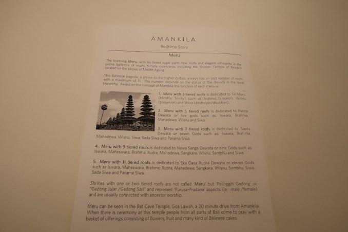 AMANKILA AT NIGHT - TURN DOWN SERVICE