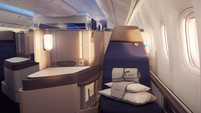 UNITED B777 POLARIS BUSINESS CLASS