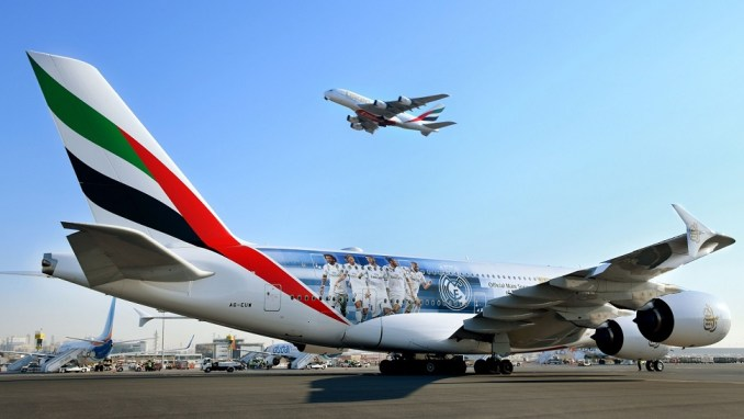 EMIRATES UNVEILS NEW REAL MADRID A380 DECAL