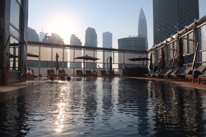 ARMANI HOTEL DUBAI: POOL DECK (AT SUNSET)