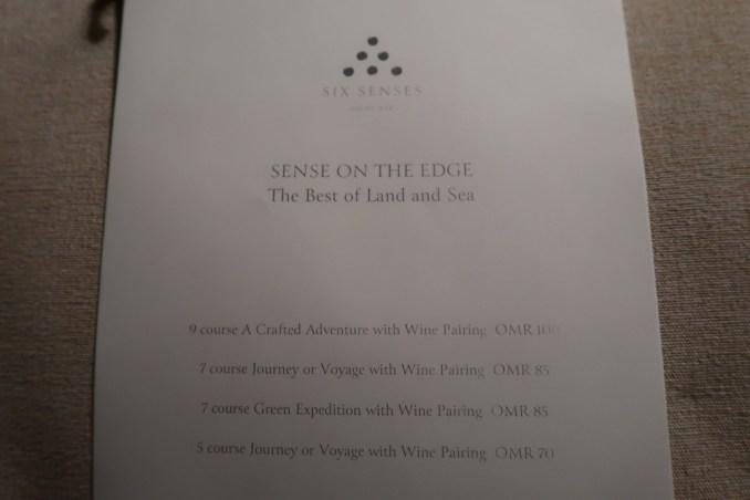 SIX SENSES ZIGHY BAY: DINNER AT SENSES ON THE EDGE