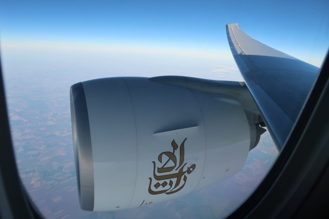 EMIRATES B777: VIEWS DURING THE FLIGHT