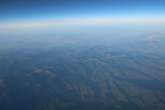 EMIRATES B777: VIEWS DURING THE FLIGHT