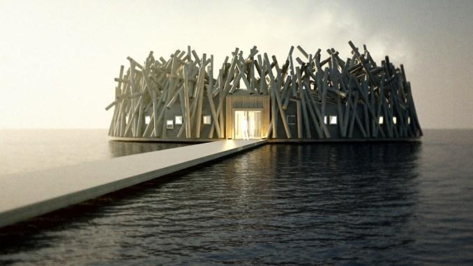 ARCTIC BATH, LAPLAND, SWEDEN
