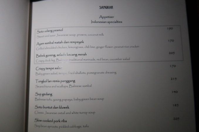 BULGARI BALI: DINNER AT SANGKAR RESTAURANT