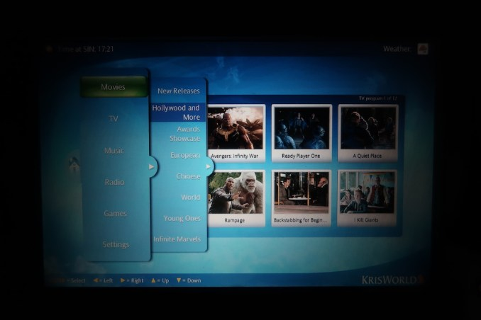 SINGAPORE AIRLINES A380: INFLIGHT ENTERTAINMENT