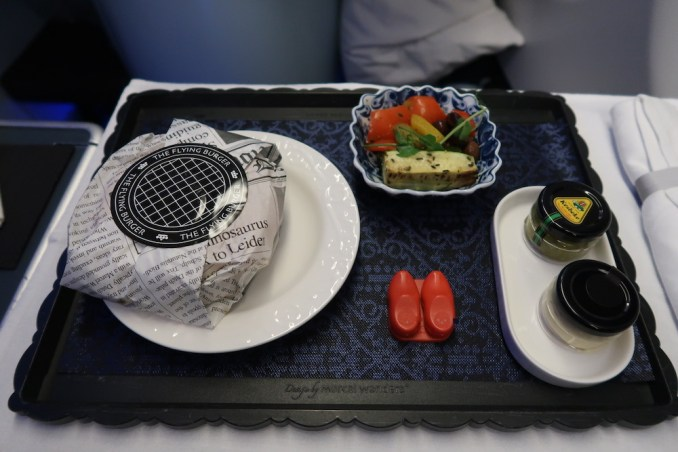 KLM A330 BUSINESS CLASS: PRE-ARRIVAL MEAL