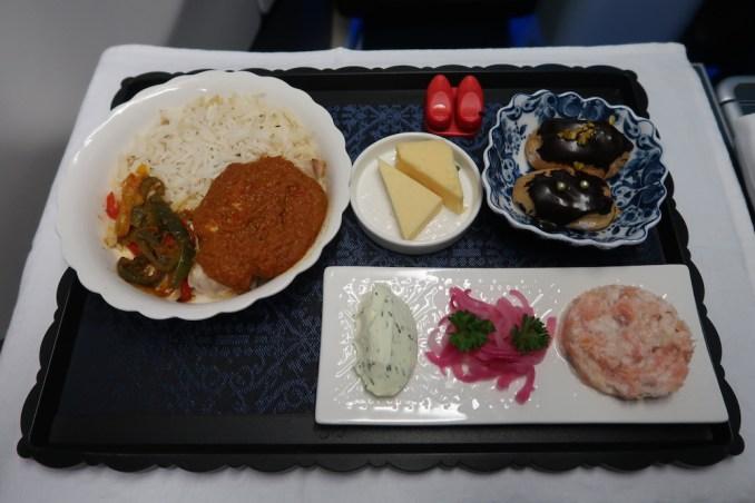 KLM A330 BUSINESS CLASS: SUPPER