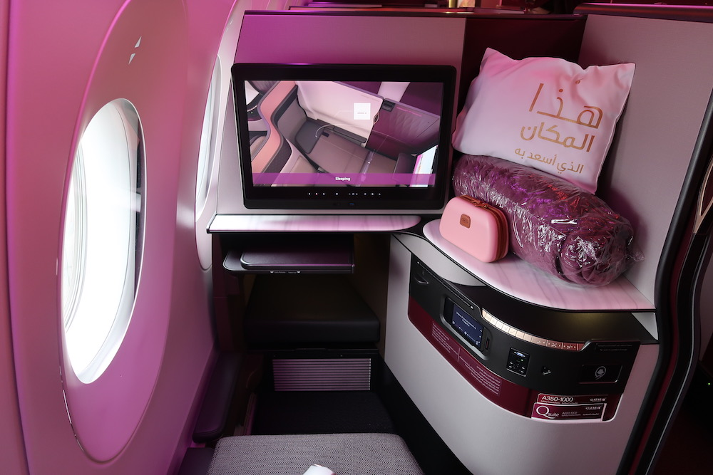 Review: Qatar Airways A350 Qsuite from Frankfurt to Doha