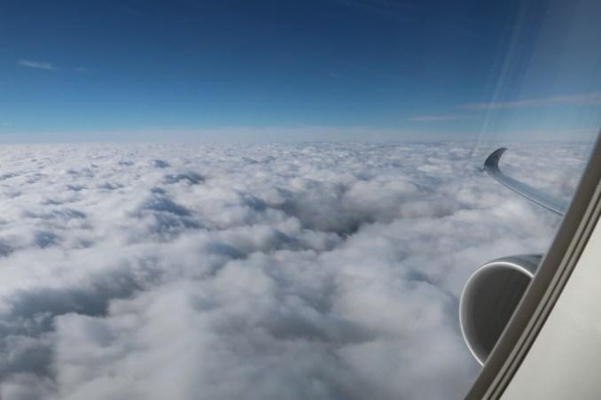 QATAR AIRWAYS A350: VIEW AFTER TAKEOFF