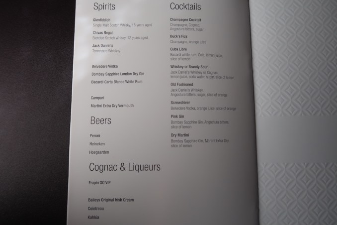 QATAR AIRWAYS A350 BUSINESS CLASS: WINE LIST