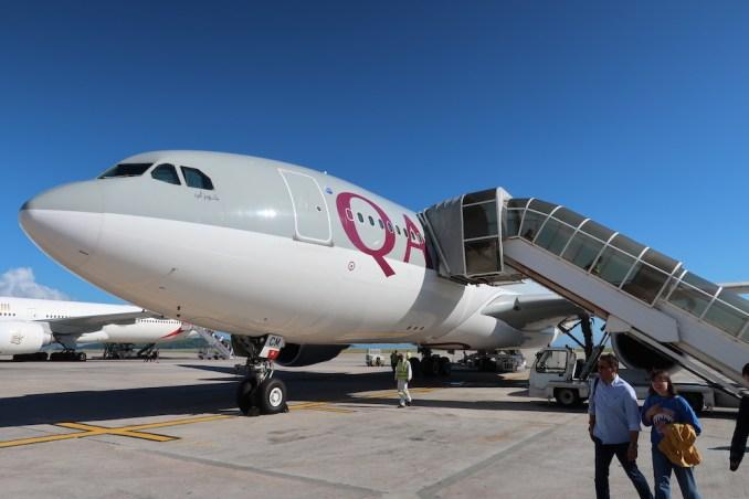 QATAR AIRWAYS A330-200 AT SEYCHELLES INTERNATIONAL AIRPORT