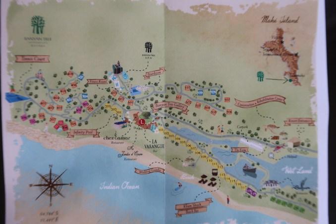 BANYAN TREE SEYCHELLES: RESORT MAP