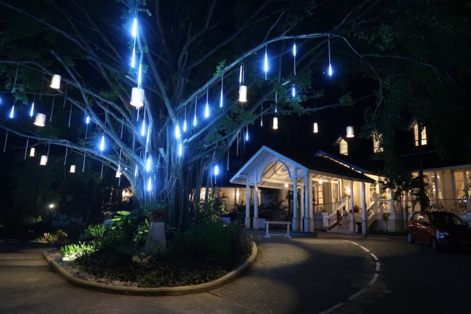 BANYAN TREE SEYCHELLES AT NIGHT