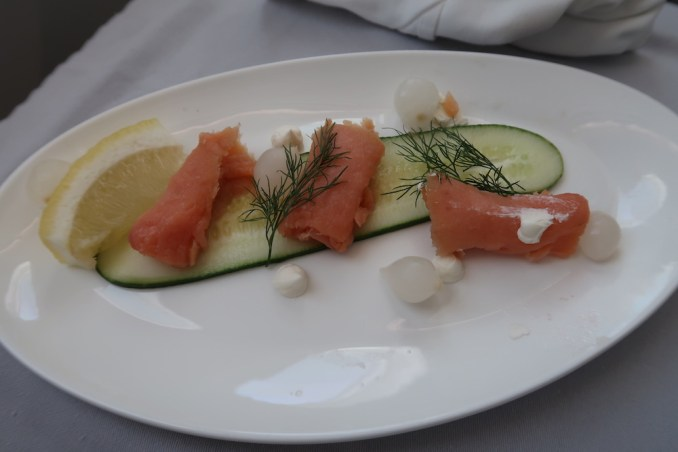 BRITISH AIRWAYS B787 BUSINESS CLASS: LUNCH